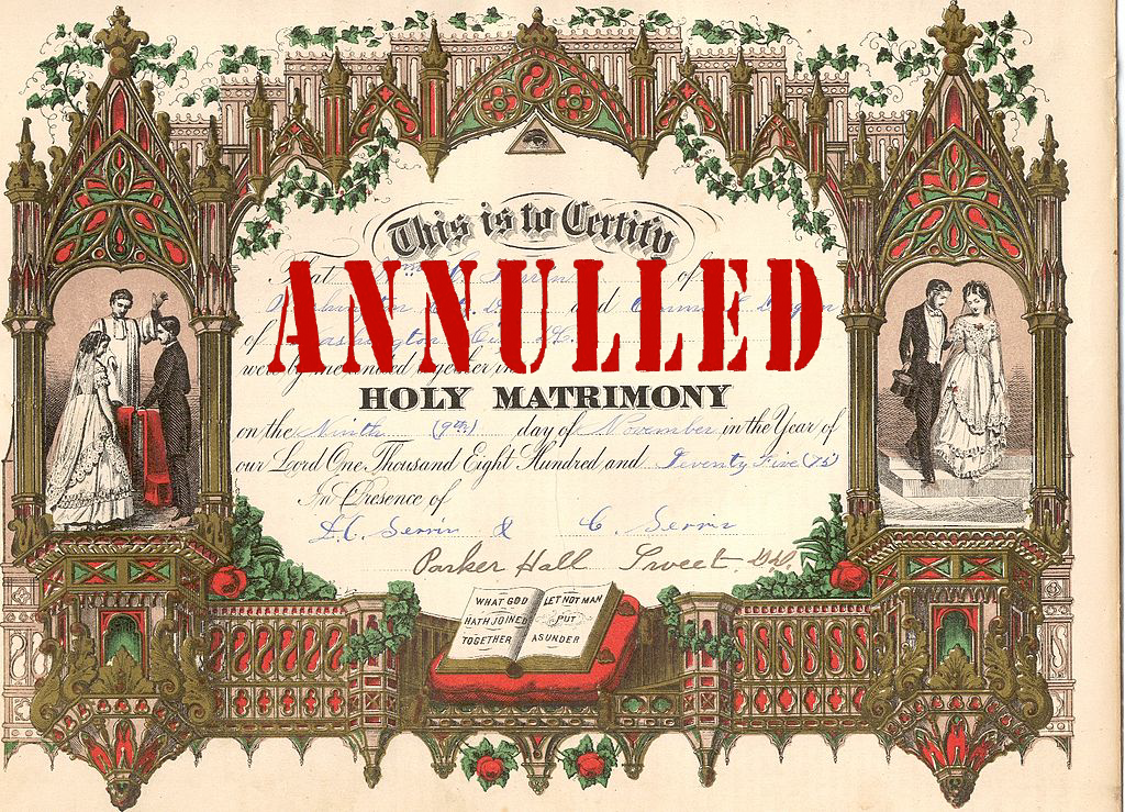 Catholic annulment reasons